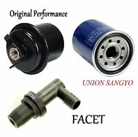 Tune Up Kit Oil Fuel Filters PCV Valve FIT Honda Odyssey L4; 2.3L;F23A7 Eng 1998