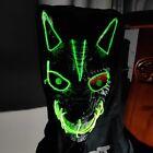 Halloween LED Glow Headgear Full Face Horror Party Haunted House Clown Wolf Head