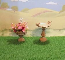 DOLLS HOUSE GARDEN -  MINIATURE STONE-EFFECT GARDEN ORNAMENTS SET