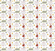 Personalised Christmas Gift Wrap LEGO Inspired Wrapping Paper