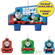 THOMAS THE TANK ENGINE PARTY SUPPLIES 4 PIECE MINI BIRTHDAY CAKE CANDLE TOPPERS