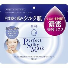 SHISEIDO SENKA PERFECT SILKY MASK FACE MASK SKIN CARE MOISTURIZER(28pcs) JAPAN