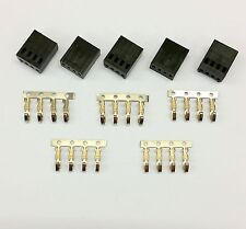PK OF 5 - FEMALE 4 PIN FAN POWER CONNECTOR - BLACK INC PINS