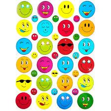 390 x Smiley Face Sticker Bunt Glänzend Kinder Geburtstag Scrapbooking