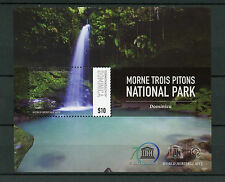Dominica 2015 MNH UNESCO Morne Trois Pitons National Park 1v S/S Waterfalls