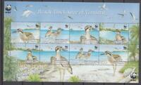 BIRD003 - BIRDS VANUATU 2009 BEACH THICK-KNEE OF VANUATU WWF SHEET MNH