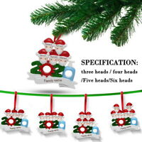 NEW 2020 Christmas Hanging Ornaments Family DIY Name Personalized Xmas Decor