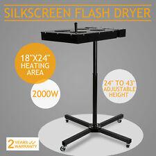 "18"" x 24"" Flash Dryer Silkscreen Printing Prints Control Box T-Shirt,4 Wheels"