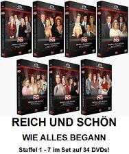 REICH UND SCHÖN - Staffel 1+2+3+4+5+6+7 KOMPLETT, 34 DVD Set NEU + OVP!