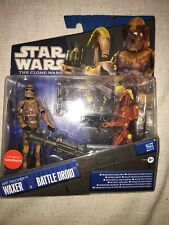 Star Wars The Clone Wars Waxer ARF Trooper and Battle Droid figures 2 Pack