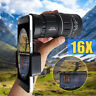 16x52 Zoom Hiking Phone Camera Lens Telescope Monocular Telephoto Clip-on Kit