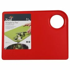 New Zeal Kitchen Non Slip Food Cutting Straight From Board To Pan Chopping Board