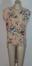 PURE HYPE PEACH FLORAL HI-LO TUNIC - SIZE 10 APPROX