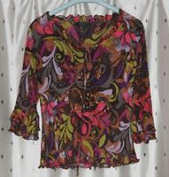EAST Ladies Floral Top ~ Size 10