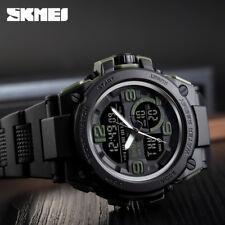 SKMEI Fashion Men's Smart Watch PU Analog Digital Sports Wrist Watch Waterproof