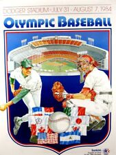 VINTAGE POSTER~1984 Olympic Baseball Dodger Stadium Sunkist July 31st-August 7th