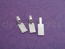 25 Tag Bails - Shiny Silver - 26x8mm - Glue On - Scrabble Glass Pendants Crafts