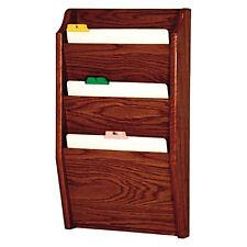 Wooden Mallet Ch 14-3 Dark Red Mahogany 3 Pocket Chart Holder