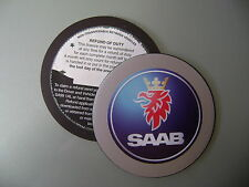 Magnetic Tax disc holder fits any saab    blue as