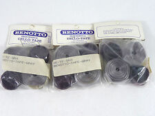Benotto Handlebar Tape Vintage Dark Grey Cello Smooth Vintage Bicycle NOS 3 pack