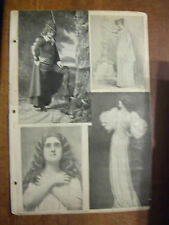 Victorian Vaudeville Actors Including Marie Lamour, & Many More