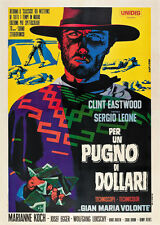 A fistfull of dollars 1964 Clint Eastwood cult western Movie poster print 8