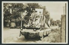 CA San Diego RPPC c.1930 DRILL TEAM PARADE FLOAT POSING on STREET One of a Kind