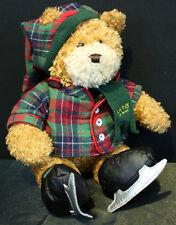 "GUND PLUSH PORTO THE BEAR 14"" ADORABLE SKATING TEDDY STUFFED ANIMAL COLLECTABLE"