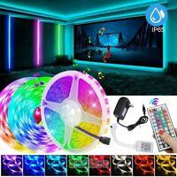 16.4FT RGB Color Changing LED Strip Light SMD 5050 Remote Fairy Lights Decor Kit