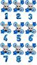 BOSS BABY Blue Balloon Kit 30'' Age Number Happy Birthday 6 Helium Balloons