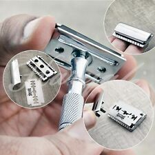 DOUBLE EDGE SAFETY RAZOR STAINLESS STEEL HANDLE + FREE BLADE USA SELLER