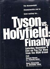 Mike Tyson Evander Holyfield  Boxing Press Kit  November 9 1996