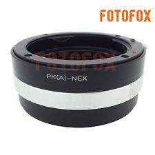 PK/A-NEX Aperture Pentax K DA AF Lens to Sony NEX E Mount Adapter NEX7 NEX5 3 5N