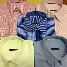 Ex M&S Performance PURE COTTON Mens Shirt Long Sleeve Non Iron Reg & SLIM FIT