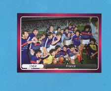 PANINI-EURO 2012-Figurina n.526- ESULTANZA - FRANCIA 1984 -NEW-DARK BOARD