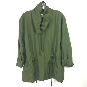 Coldwater Creek Lightweight Green Windbreaker All Season Jacket Petite XLarge 18