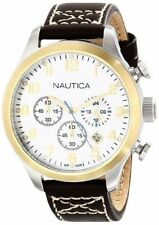 Nautica Men's N15666G BFD 101 Chrono Classic Japanese Chronograph Movement Watch