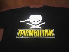 Epic Meal Time Logo Men's Black Cotton T-Shirt Size Large    C8