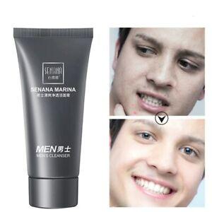 Men Face wash  oil-control Cream Cool Bright Blackhead Removal Deep cleanse new.