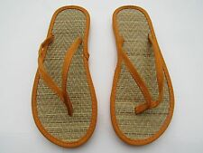 Ladies Womens Girls Bamboo Beach Flip Flops Casual Summer Sandles Shoes