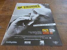 JOE STRUMMER - TEMPLE !!!!!!!!!!!!!!FRENCH PRESS ADVERT