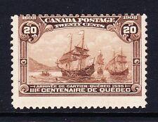 Canada 1908 Quebec 20 C Mat Marron SG 195 Comme neuf.