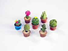 Miniature Cacti (Resin) in Pots Set by Mowbray Miniatures (x7) # Cactus Plants