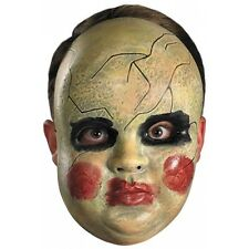 Creepy Baby Mask Adult & Kids Scary Doll Face Halloween Costume Fancy Dress