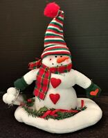 Animated Christmas Santa Claus is  Coming To Town Snowman Sings Sways Video NWOT