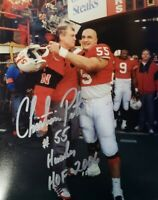 NEBRASKA FOOTBALL CORNHUSKER CHRISTIAN PETER #55 TOM OSBORNE SIGNED HUSKER HOF