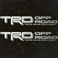 "TOYOTA TACOMA TRD OFF ROAD DECALS STICKERS (2) 18""X3"" DECALS SILVER"