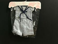 """Vintage Corolle Baby Doll Clothes Outfit New in Package Blue White Strips 14-16"""""""