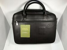 Cabelas Leather Briefcase Laptop Brown Messenger Bag strap
