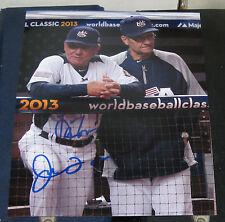 Joe Torre Larry Bowa WBC USA SIGNED 8x10 Photo COA Autographed Baseball Yankees